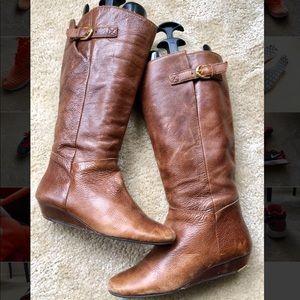 Steve Madden Intyce Boots Cognac 8.5 Brown Knee
